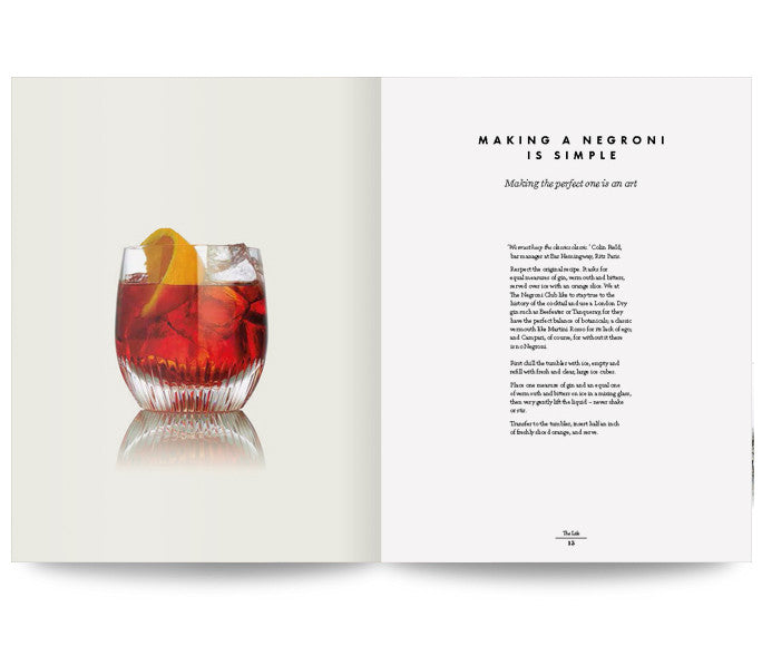Signed copies of The Life Negroni Book
