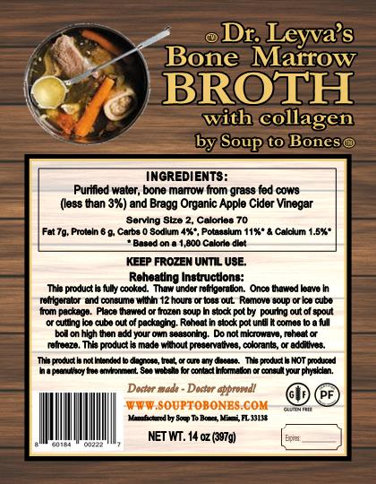 Dr. Leyva's Bone Marrow Broth with Collagen