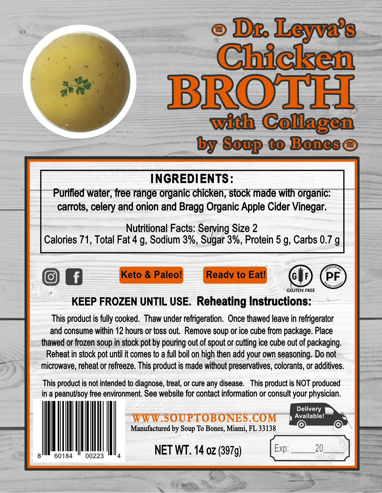 Dr. Leyva's Chicken Broth with Collagen