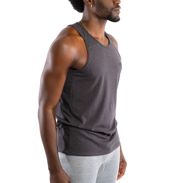Dry Fit Training Tank Top, Charcoal