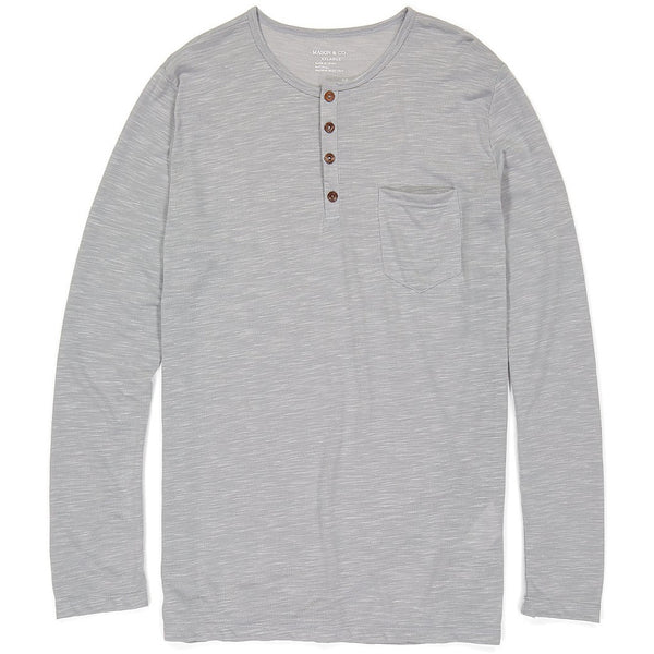 Long Sleeve Henley - Light Gray