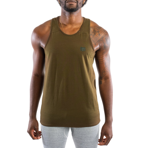 Dry Fit Training Tank Top, Olive