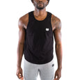 Dry Fit Training Tank Top Extended Curved, Jet Black