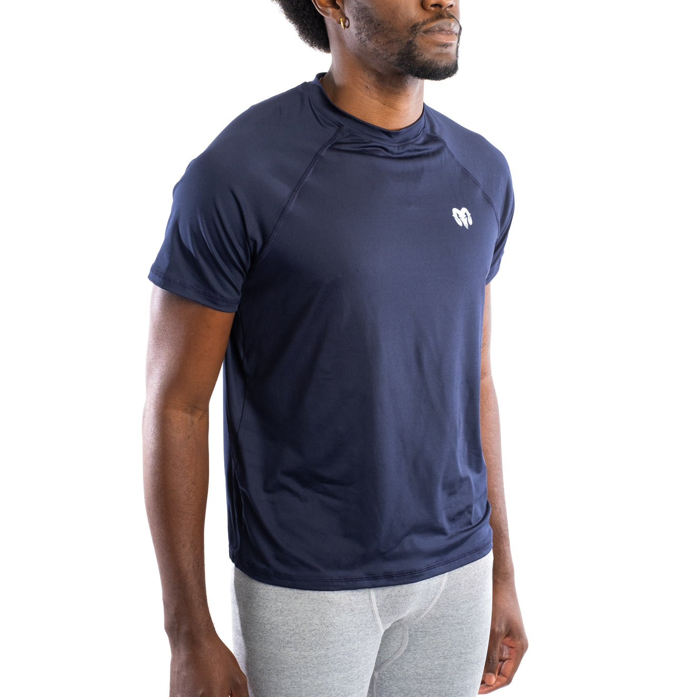 Quick Dry Compression Gym T-Shirt, Regular Fit, Navy