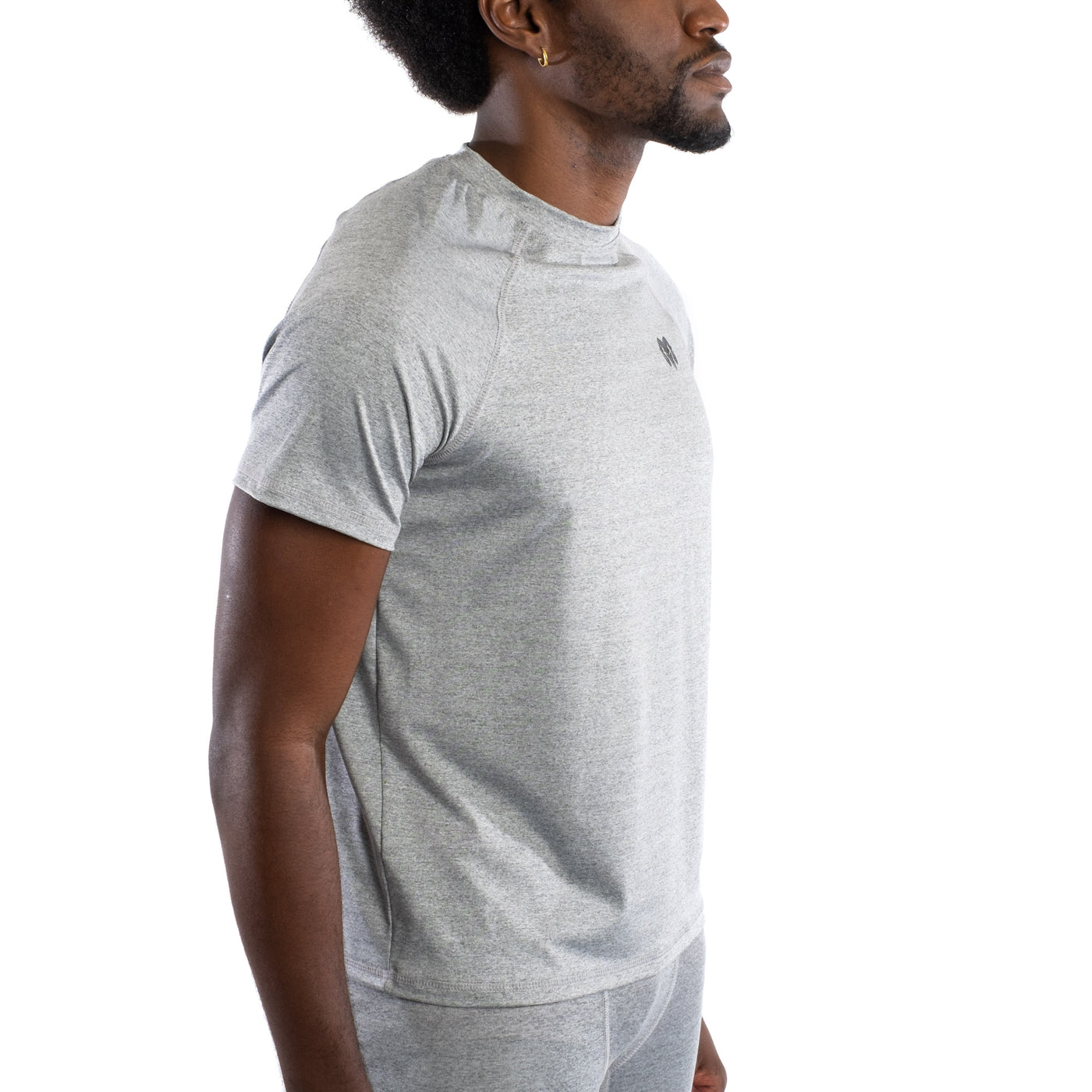 Quick Dry Compression Gym T-Shirt, Regular Fit, Gray