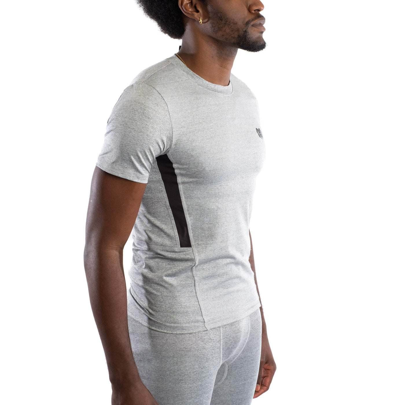 Quick Dry Compression Gym T-Shirt, Grey