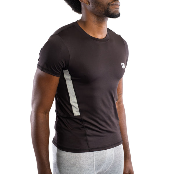 Quick Dry Compression Gym T-Shirt, Black