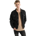 SOLD OUT - Trucker Distressed Denim Jacket - Black