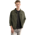 SOLD OUT - Distressed Twill Jacket , Army Green