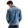 Distressed Denim Jacket, Splatter Paint