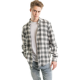 Flannel Shirt, White Plaid