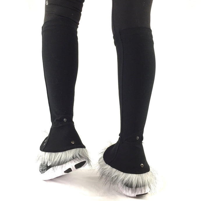 leg warmers kimblz spunky grey long fur lined ankle cuff up able