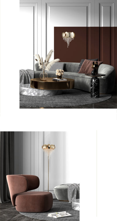 Amadeo Brass Crystal Sconce - Italian Concept