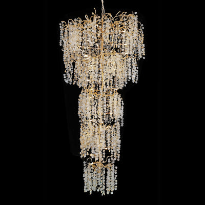 Quatre Foyer Organic Branching Round Penny Chandelier - Italian Concept