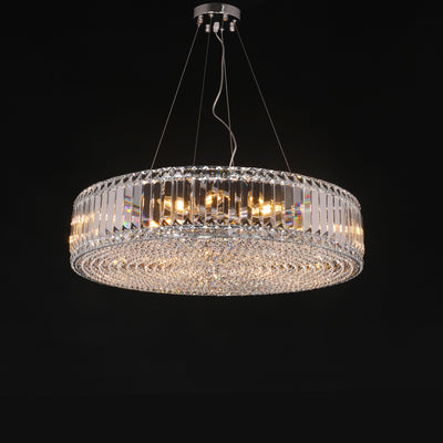 Brickell Round Crystal Ring Chandelier - Italian Concept