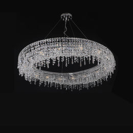Lucid Halo Round Crystal Ring Chandelier - Italian Concept