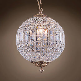French Empire Round Sphere Crystal Chandelier - Italian Concept