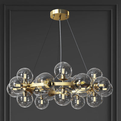 Sepi Glass Globe / Bubble Round Ring Chandelier - Italian Concept
