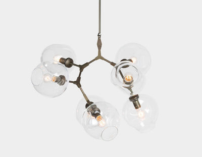 Tipsy Branching Glass Globe Bubble Chandelier - Italian Concept