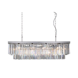 Apex Odeon Rectangular Fringe Crystal Chandelier - Italian Concept
