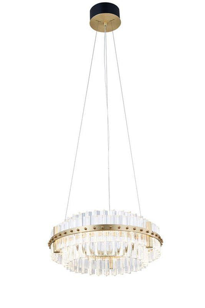 Aquinox 2-Tier Round Crystal Ring LED Chandelier - Italian Concept