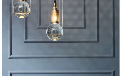 Bijou Solid Glass Globe Pendant Light