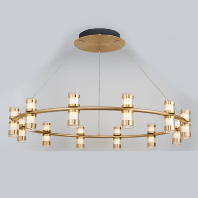 Arcanite Round / Oval LED Ring Chandelier - Italian Concept