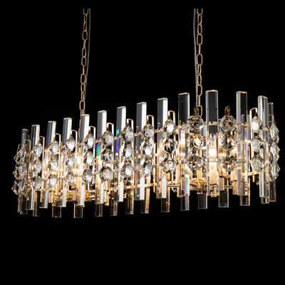 Gem Rectangle Crystal Chandelier - Italian Concept