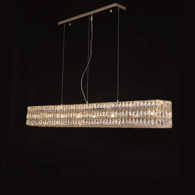 Mia Rectangular 3-Tier Crystal Chandelier - Italian Concept