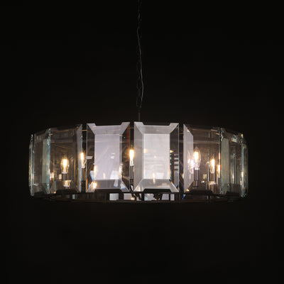 "Tundra Crystal Round 24"" Chandelier - Italian Concept"