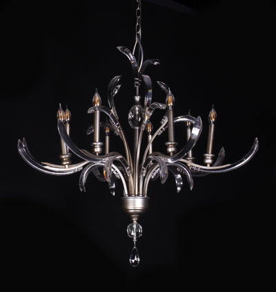 Opal Shards 8-Light Chandelier - Italian Concept