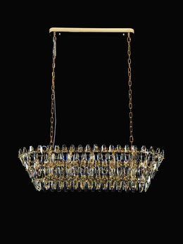 Sol Odeon Linear Crystal Chandelier - Italian Concept
