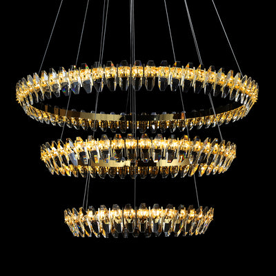 Sol Crystal Ring LED Chandelier - Italian Concept