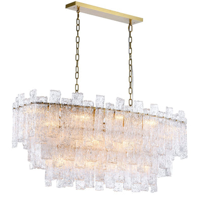 Giovanni Layered Rectangle Glass Chandelier - Italian Concept