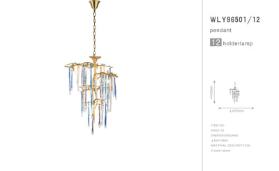 Predella Branching Glass Chandelier - Italian Concept