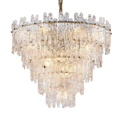 Faust Tiered Round Glass Chandelier - Italian Concept