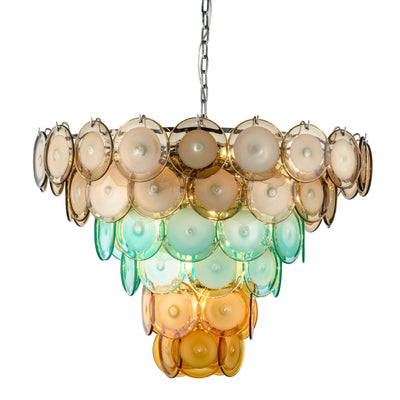 Bettina Murano Round Glass Chandelier - Italian Concept