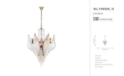 Aria Closed-Flower Crystal Murano Chandelier - Italian Concept