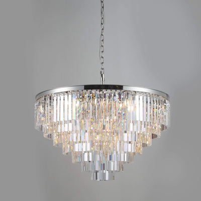 Apex Odeon Round Crystal Fringe Chandelier - Italian Concept