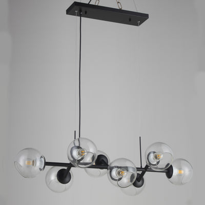 Linear Branching Glass Globe Bubble Chandelier - Italian Concept