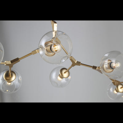 Metal Releaf Vertical Globe Branching Bubble Chandelier - Italian Concept