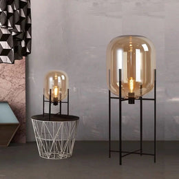 Lily Summers Hand-Crafted Blown Glass Bubble Floor Lamp - Italian Concept