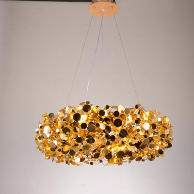 Plutot Halo Round Penny Chandelier - Italian Concept