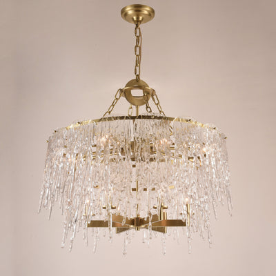 Aletta Melting Drop Crystal Glass Chandelier - Italian Concept