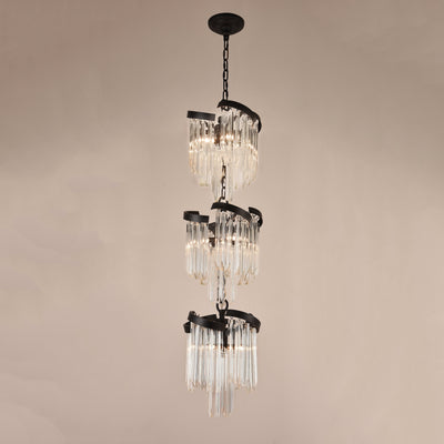 Twin Palms Foyer Pendant Crystal Chandelier - Italian Concept