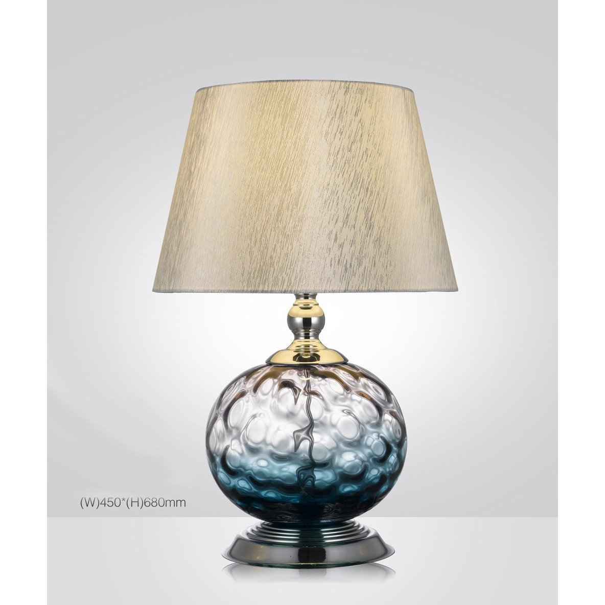 Picture of: Urbanity Hand Crafted Blown Glass Table Lamp With Shade Italian Concept