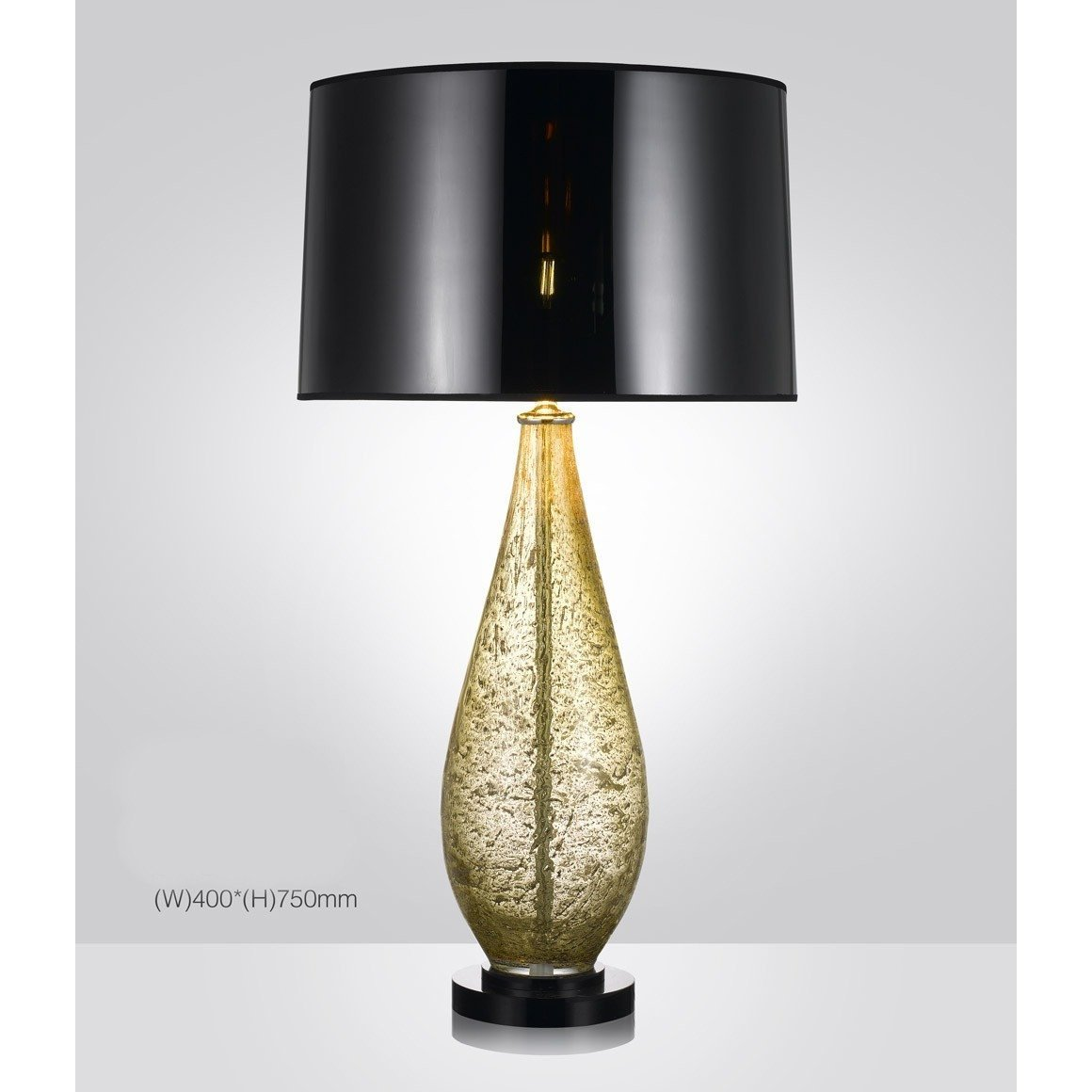 Picture of: Harrod S Amber Hand Crafted Blown Glass Table Lamp With Shade Italian Concept