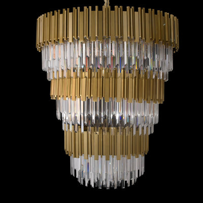 Colonnade Tiered Round Crystal Chandelier - Italian Concept