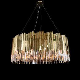 Arrows Steel Crystal Chandelier Round - Italian Concept