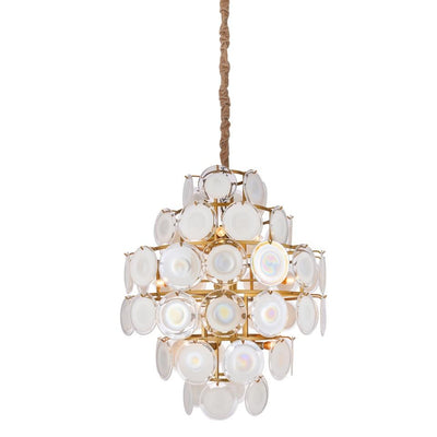 ISLA FROSTED GLASS DISKS CHANDELIER - Italian Concept